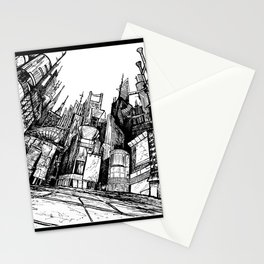 Future New York City Hand Drawn Pen Art Stationery Cards