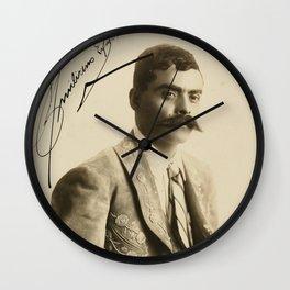 Emiliano Zapata with Signature, c.1915 Wall Clock