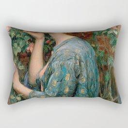John William Waterhouse The Soul Of The Rose Rectangular Pillow