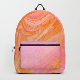pink agate gemstone Backpack