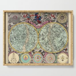 Celestial Map 1730b Serving Tray