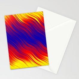 Stripes Wave Pattern 10 bryi Stationery Cards