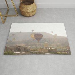 Foggy Morning Balloon Ride, Cappadocia Rug