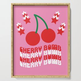 Cherry Bomb Serving Tray