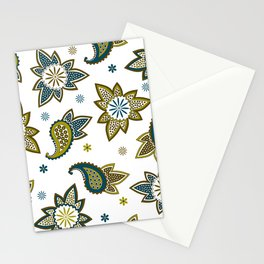 Paisley pattern in earthy colors Stationery Cards
