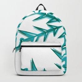 Minimalistic Aquamarine Snowflake Backpack