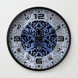 Classic Blue Swirls Damask 5 Wall Clock