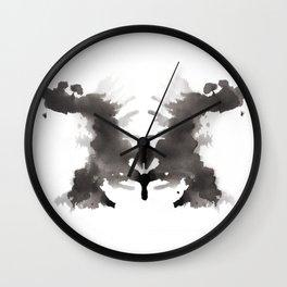Rorschach test 3 Wall Clock