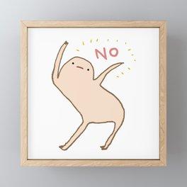 Honest Blob Says No Framed Mini Art Print
