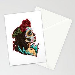 Sugar Skull - Santa Muerte - La Calavera Catrina Stationery Cards