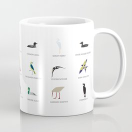 Cape Cod Birds: A Minimalist Field Guide Coffee Mug