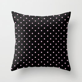 Dotted (Pink & Black Pattern) Throw Pillow