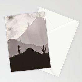Arizona Desert Cactus Mountain Landscape Stationery Cards