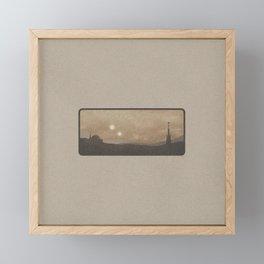 """Binary Suns - Tatooine Light"" by Michael Grasseschi  Framed Mini Art Print"