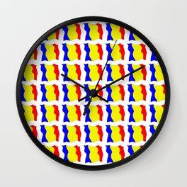 Flag of romania-romania,romanian,balkan,bucharest,danube,romani,romana,bucuresti Wall Clock