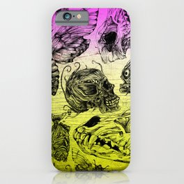 Bones and color iPhone Case