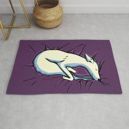 Sleeping Iggy Dog - Italian Greyhound - Whippet - Purple Rug