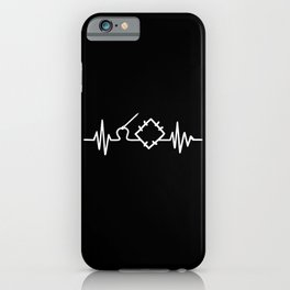 Quilting Heartbeat iPhone Case