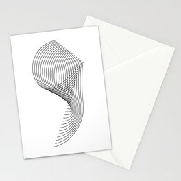"""""""Linear Collection"""" - Minimal Number Nine Print Stationery Cards"""