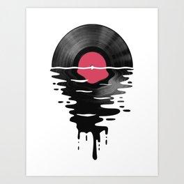 Vinyl LP Record Sunset Kunstdrucke