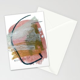 New Mexico: a pretty mixed media abstract in a variety of colors Stationery Cards