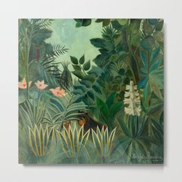 "Henri Rousseau ""The Equatorial Jungle"" Metal Print"