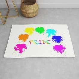 Pride hearts with stars Rug