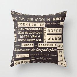 Afrikaans Bruin Throw Pillow