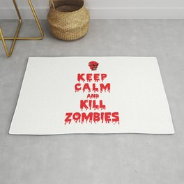 Keep Calm And Kill Zombies Rug
