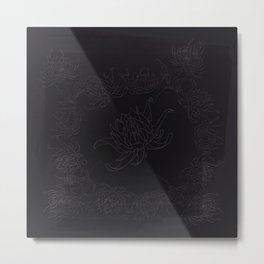 Obsidian Dahlia Metal Print