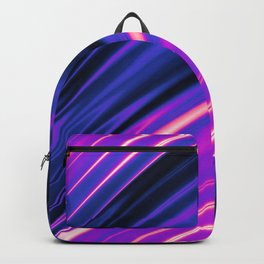 Genderfluid Pride Rippling Satin Texture Backpack