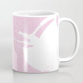 Dublin Street Map Pink and White Coffee Mug