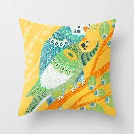 Parakeet Pals Throw Pillow