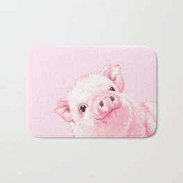 Sneaky Baby Pink Pig Bath Mat