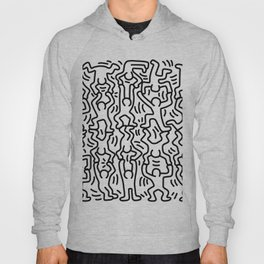 Homage to Keith Haring Acrobats Hoody
