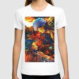 Colorful Armored Titan T-shirt