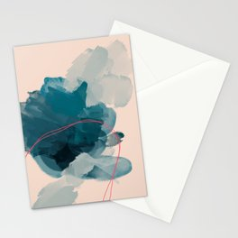 Abstract Lines In A Pool Stationery Cards