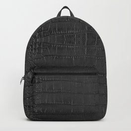 Alligator Black Leather Backpack