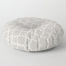 Classic Quatrefoil pattern, warm grey Floor Pillow