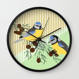 two birds in harmonie Wall Clock
