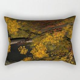 Autumn Leaves and Stream Rectangular Pillow