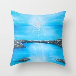 My Island Home Throw Pillow