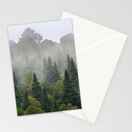 """""""Dream forest"""" Endemig trees into the fog Stationery Cards"""