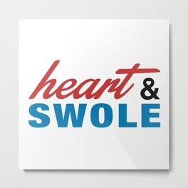 Heart & Swole Metal Print