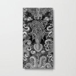 The Kraken (Black & White - NoText, Alt.) Metal Print