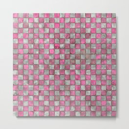 Retro gray pink floor Metal Print