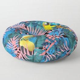 Tropical Jungle Toucan Parrot Floor Pillow