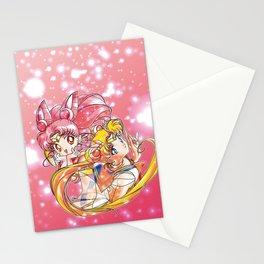 Super Sailor Moon & Chibi Moon (edit 2/A) Stationery Cards