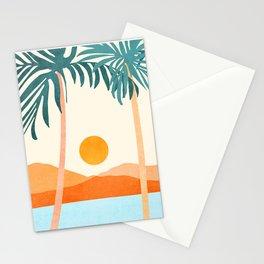 Palm Island / Minimalist Landscape Stationery Cards