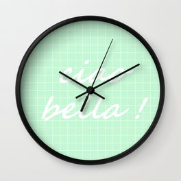 Ciao Bella! - mint green Wall Clock